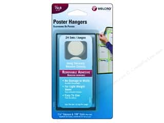 Hooks Basic Components: Velcro Removable Poster Hanger 1/4 lb. White 24pc.