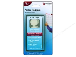 Velcro Removable Poster Hanger 1/4 lb. White 36pc.