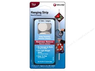 Velcro Picture Hangers: Velcro Removable Hanging Strip 1/4 lb. White 12pc.