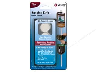 Velcro Basic Components: Velcro Removable Hanging Strip  1/4 lb. White 20pc.