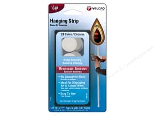 Velcro Removable Hanging Strip 1/4 lb White 28pc.
