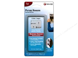 Velcro Picture Hangers: Velcro Removable Picture Hanger 1 lb. White 8pc