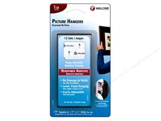 Velcro Picture Hangers: Velcro Removable Picture Hanger 1lb White 12pc