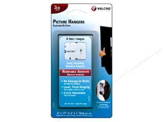 Velcro Removable Picture Hanger 3 lb. White 6pc.