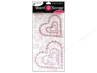 Want2Scrap Sticker Spellbinders Heart Sclp Pink