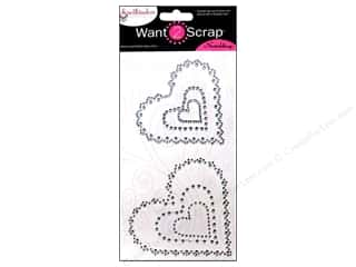 Want2Scrap Sticker Spellbinders Heart Sclp Silver