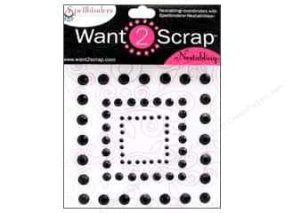 Want2Scrap Sticker Spellbinders Squares Black