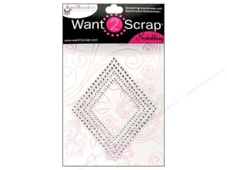 Spellbinders Stickers: Want2Scrap Sticker Spellbinders Diamonds Classic Silver