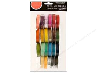 American Crafts Ribbon and Fiber Embellishments: American Crafts Ribbon Value Pack 24 pc. Solid Grosgrain #1