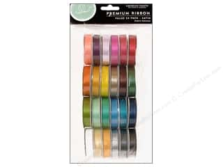Ribbon Work Ribbons / Fabrics / Threads / Cords: American Crafts Ribbon Value Pack 24 pc. Solid Satin #1
