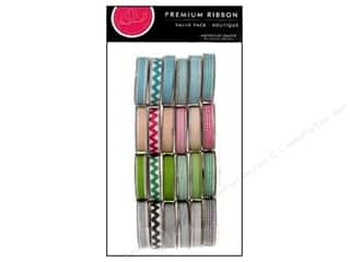 American Crafts Ribbon and Fiber Embellishments: American Crafts Ribbon Value Pack 24 pc. Boutique