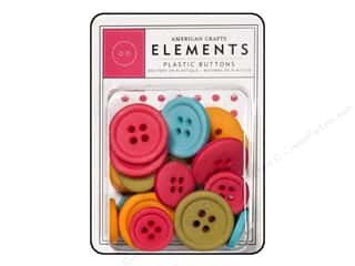 American Crafts Buttons Elements Plastic Daydreams