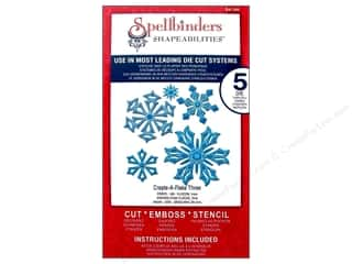 Spellbinders Die winter: Spellbinders Shapeabilities Die Create A Flake Three