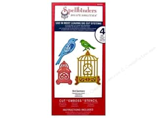 Spellbinders Shapeabilities Die Bird Sanctuary