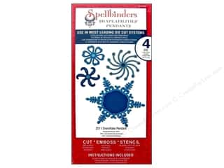 Spellbinders Shapeabilities Die 2011 Snowflake Pendants