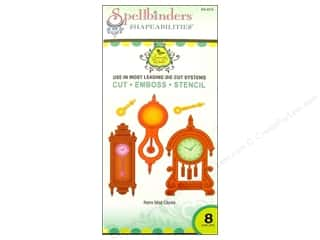 Spellbinders Shapeabilities Die Retro Mod Clocks
