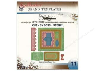 Clearance Spellbinders Presto Punch Template: Spellbinders Die Grand Template Donna Salazar Book Pages 2