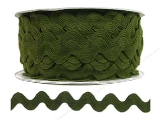 Cheep Trims Ribbons / Fabrics / Threads / Cords: Ric Rac by Cheep Trims  11/16 in. Moss (24 yards)