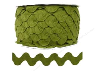 Ric Rac by Cheep Trims  1 in. Olive