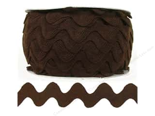pillow brown: Ric Rac by Cheep Trims  1 in. Brown (24 yards)