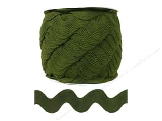 Cheep Trims Ribbons / Fabrics / Threads / Cords: Jumbo Ric Rac by Cheep Trims  1 13/32 in. Moss (24 yards)