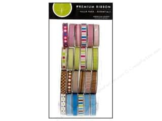 Polyester Ribbon / Synthetic Blend Ribbon: American Crafts Ribbon Value Pack 24 pc. Essentials