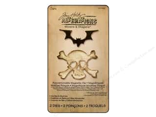 Sizzix Movers & Shapers Magnetic Die Set 2PK Mini Bat & Skull