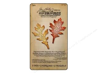 Sizzix Movers & Shapers Magnetic Die Set 2PK Mini Tattered Leaves