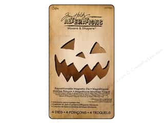 Sizzix Movers & Shapers Magnetic Die Set 4PK Mini Scary Jack-o-Lantern Set