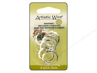 Artistic Wire Wrappers 20mm Rnd Silver Plate 6pc