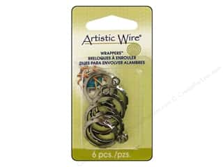 Artistic Wire Wrappers 20mm Rnd Hematite 6pc