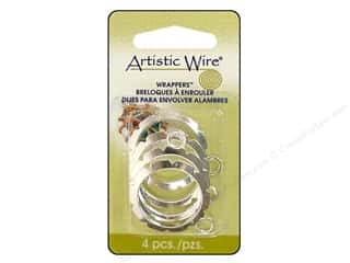 Artistic Wire Wrappers 28mm Rnd Silver Plate 4pc