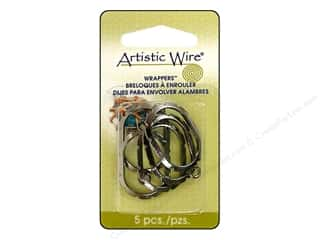Artistic Wire Wrappers 28 x 20 mm Oval Hematite 5 pc.