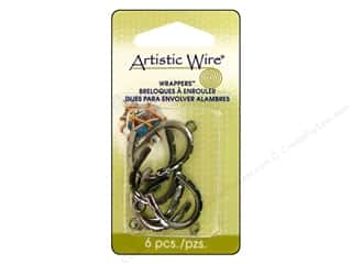 Clearance Blumenthal Favorite Findings: Artistic Wire Wrappers 17 x 22 mm Curved Hematite 6pc.