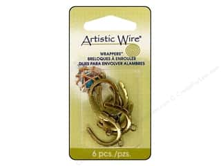Artistic Wire Wrappers Curved Antique Brass 6pc