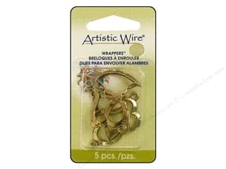 Artistic Wire Wrappers Curved Heart Ant Brass 5pc
