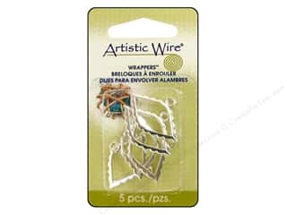 Charms Artistic Wire™: Artistic Wire Wrappers Marquee Silver Plated 6pc.