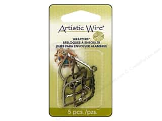 Clearance Blumenthal Favorite Findings: Artistic Wire Wrappers Marquee Hematite 5pc.
