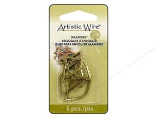 Artistic Wire Beading & Jewelry Making Supplies: Artistic Wire Wrappers Marquee Antique Brass 5pc.