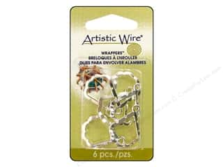 Beading & Jewelry Making Supplies: Artistic Wire Wrappers Pear Silver Plate 6pc
