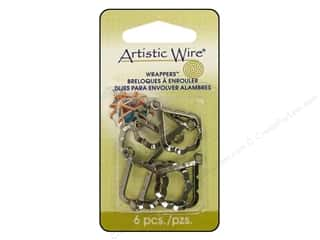 Artistic Wire Wrappers Pear Hematite 6pc
