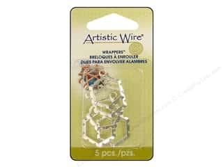 Clearance Blumenthal Favorite Findings: Artistic Wire Wrappers 20.5 x 18.5 mm Hexagon Silver Plated 5pc.