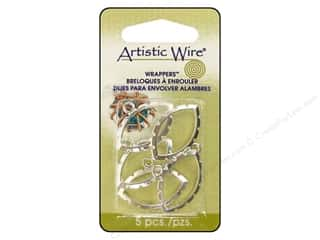 Clearance Blumenthal Favorite Findings: Artistic Wire Wrappers Navette Silver Plated 5pc.