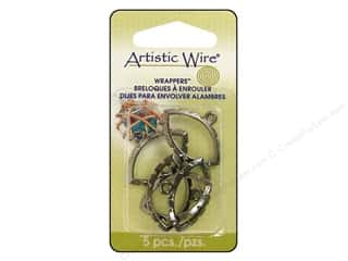 Artistic Wire Wrappers Navette Hematite 5pc