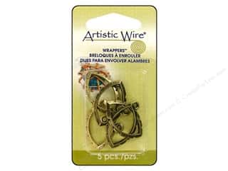 Clearance Blumenthal Favorite Findings: Artistic Wire Wrappers Navette Antique Brass 5pc.