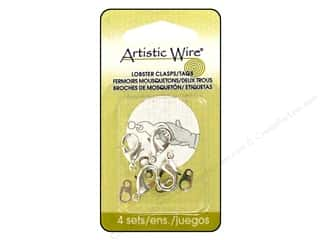 Beading & Jewelry Making Supplies Artistic Wire™: Artistic Wire Lobster Clasps & Tag Large 4 pc. Silver
