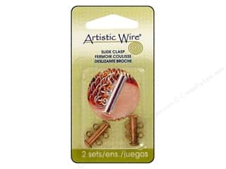 Clasps: Artistic Wire Clasp Slide Copper Plate 2pc