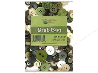 Buttons Galore & More Novelty Buttons: Buttons Galore Grab Bag 6 oz. Camouflage