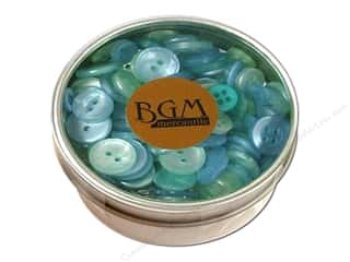 Buttons: Buttons Galore Haberdashery Button Tin Sea Glass