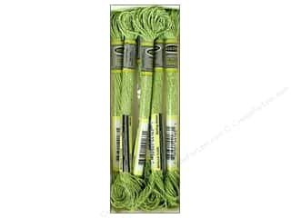 embroidery floss: Sullivans Embroidery Floss 8.7yd Mtlc Spring Green (6 skeins)